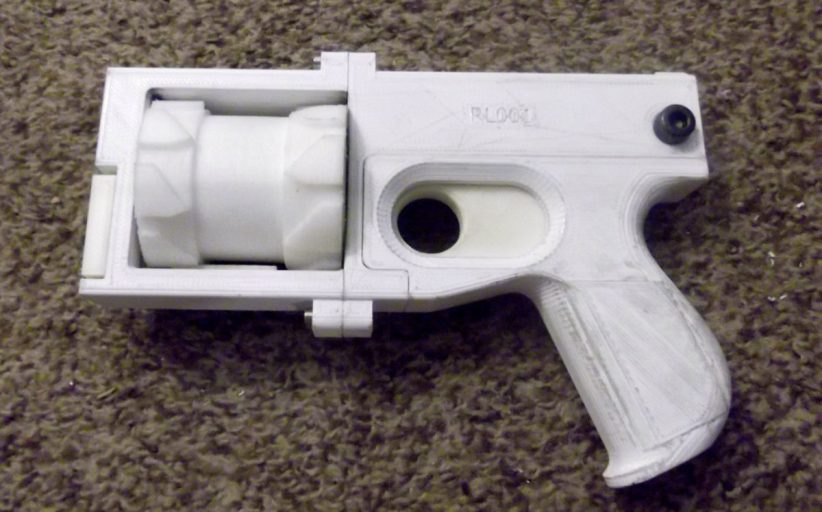 3D Printed Revolver
