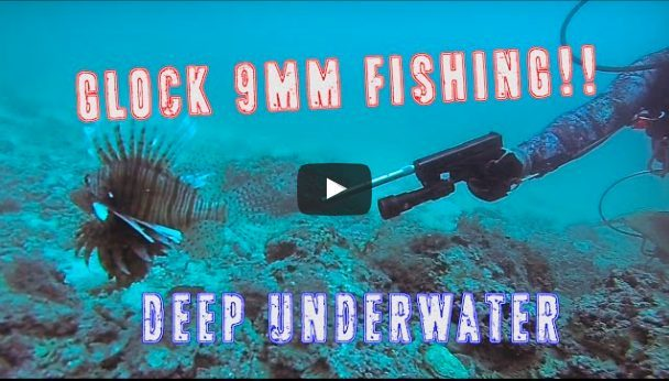 Underwater fish Glock shooting