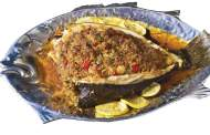 Baked or Grilled Stuffed Flounder
