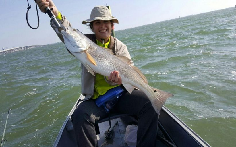 Red Drum Galveston Channel in a Canoe