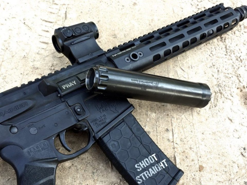 The Griffin Alpha Suppressor on a 5.56 SBR