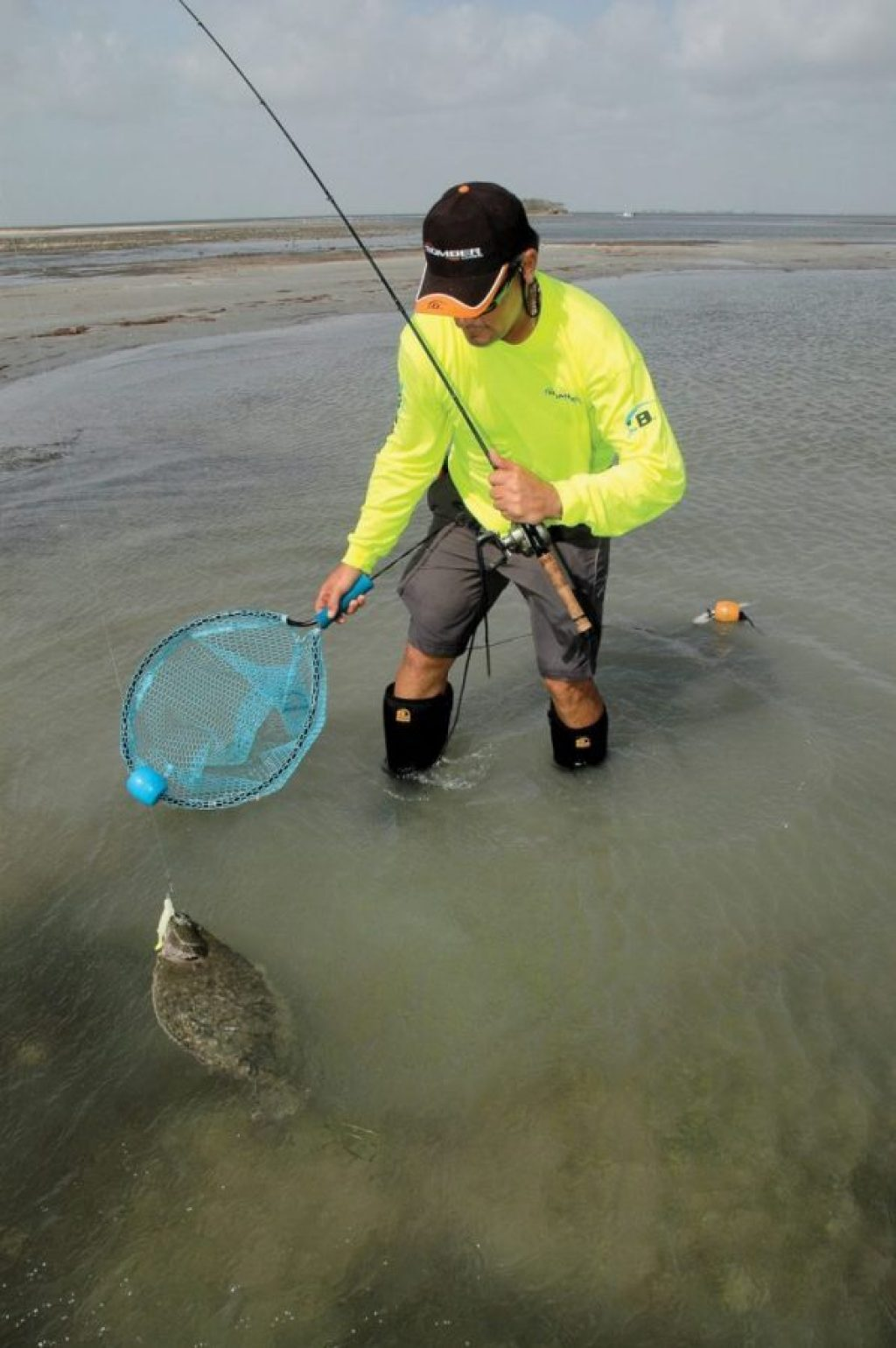 flounder fishing from the bank