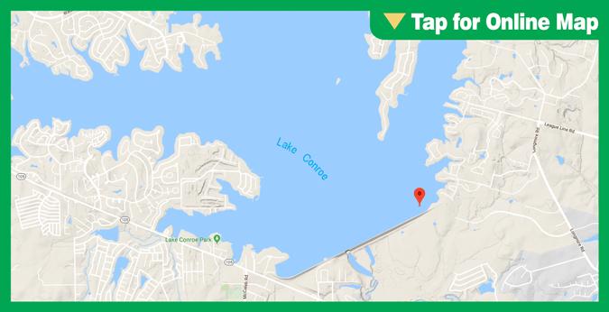Lake Conroe: Dam Area