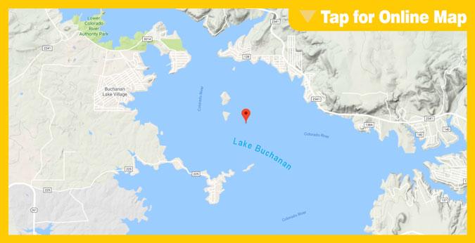 Lake Buchanan: Garret Island