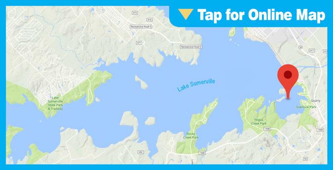 Lake Somerville: Rock Island Brush