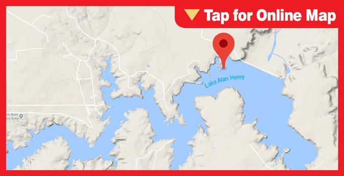Lake Alan Henry: Dam - Deep Water Area