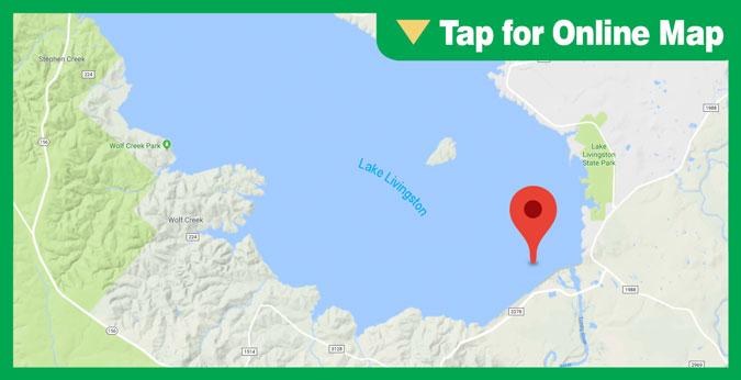 Lake Livingston HOTSPOT: Dam Area in Deep Water