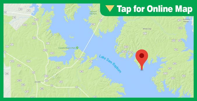 Lake Sam Rayburn HOTSPOT: Campbell Branch