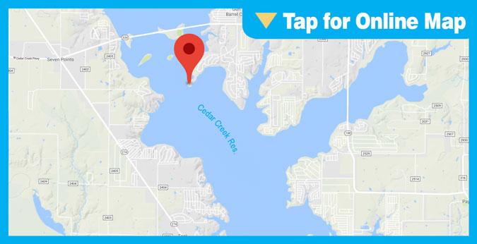 Cedar Creek Lake HOTSPOT: Main Lake Humps