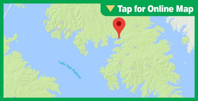 Lake Sam Rayburn HOTSPOT: Rocky Creek