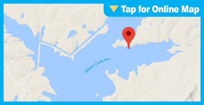 Gibbons Creek Reservoir HOTSPOT: Eagle Point, South Side