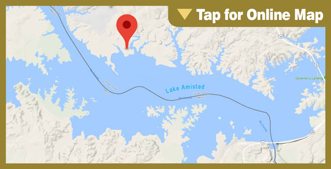 Lake Amistad HOTSPOT: Deep Water Points