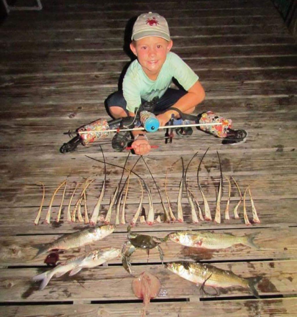 Alabama bow fishing haul