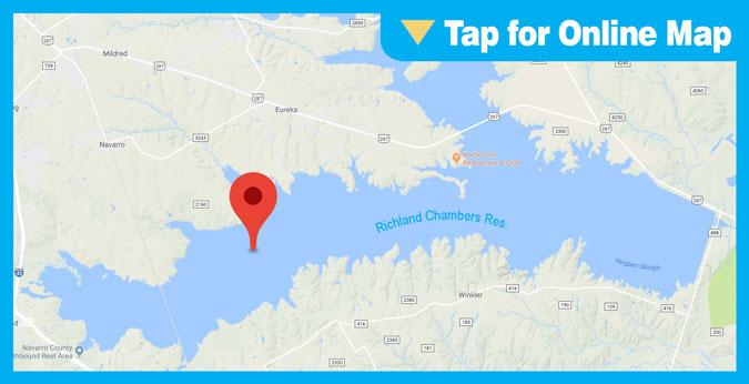 Richland Chambers Lake HOTSPOT: Richland Creek Arm and Crab Creek