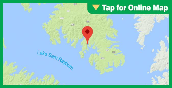 Lake Sam Rayburn HOTSPOT: Main Lake