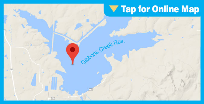Gibbons Creek Reservoir HOTSPOT: Hog Creek