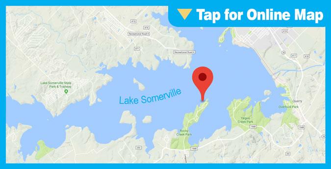 Lake Somerville HOTSPOT: Tire Reef