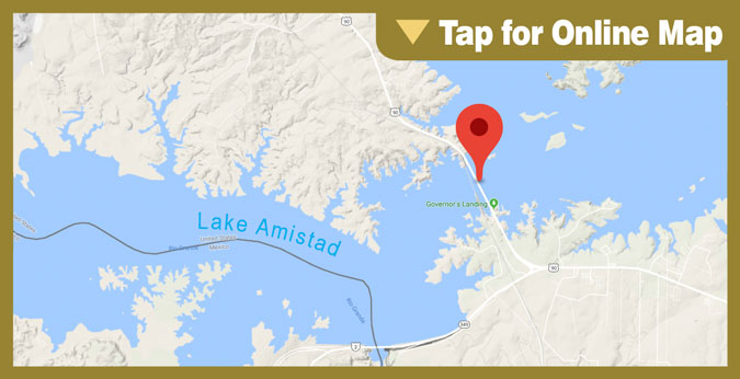 Lake Amistad HOTSPOT: Bridge Pilings