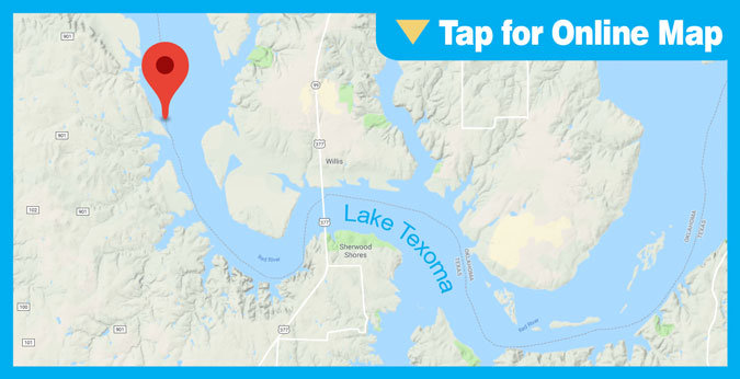 Lake Texoma HOTSPOT: Paw Paw Creek and Willis Bridge
