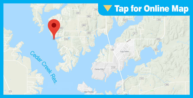 Cedar Creek Lake HOTSPOT: Lower Main Lake