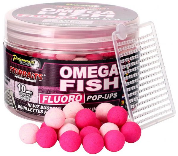 STARBAITS Fluoro PopUps Omega Fish 14mm 80g