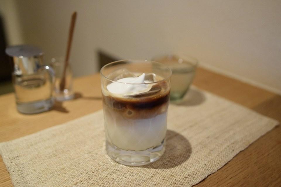 コーヒーカジタのアイスカフェオレ