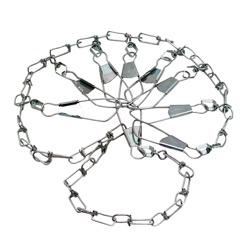 Fish stringers chain, braided cord, brass, sliding hook