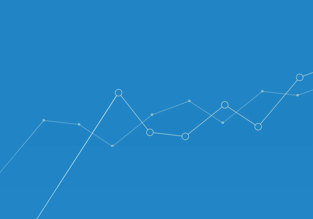 Intercepting graph-like lines on a blue background