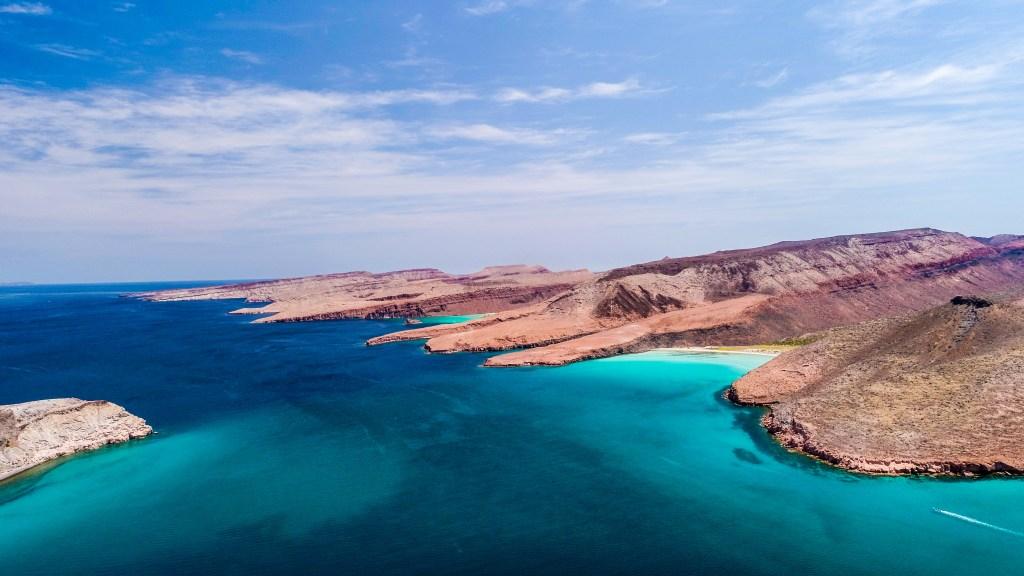 Aerial panoramics from Espiritu Santo Island, Baja California Sur, Mexico