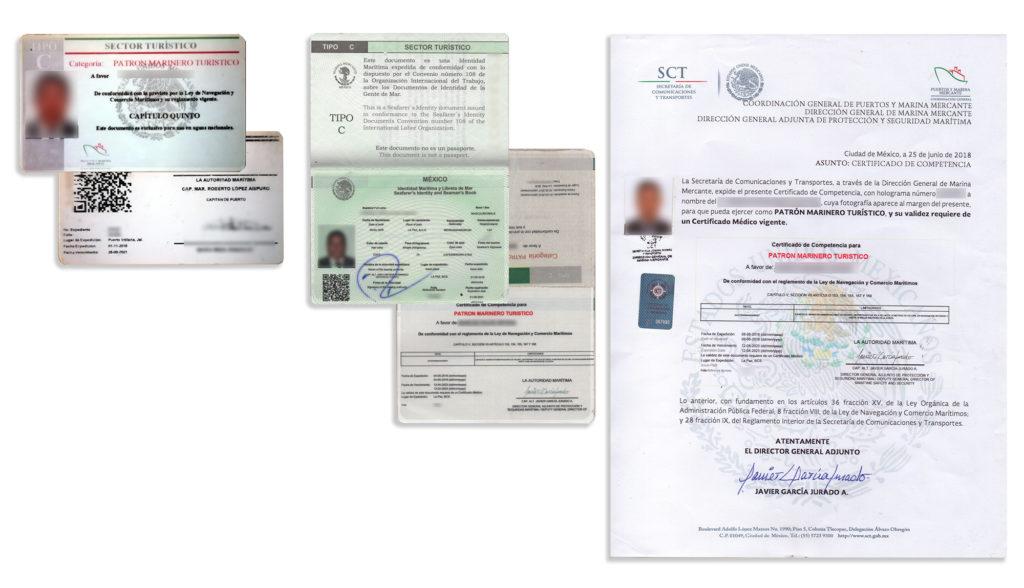 Captains licenses 2