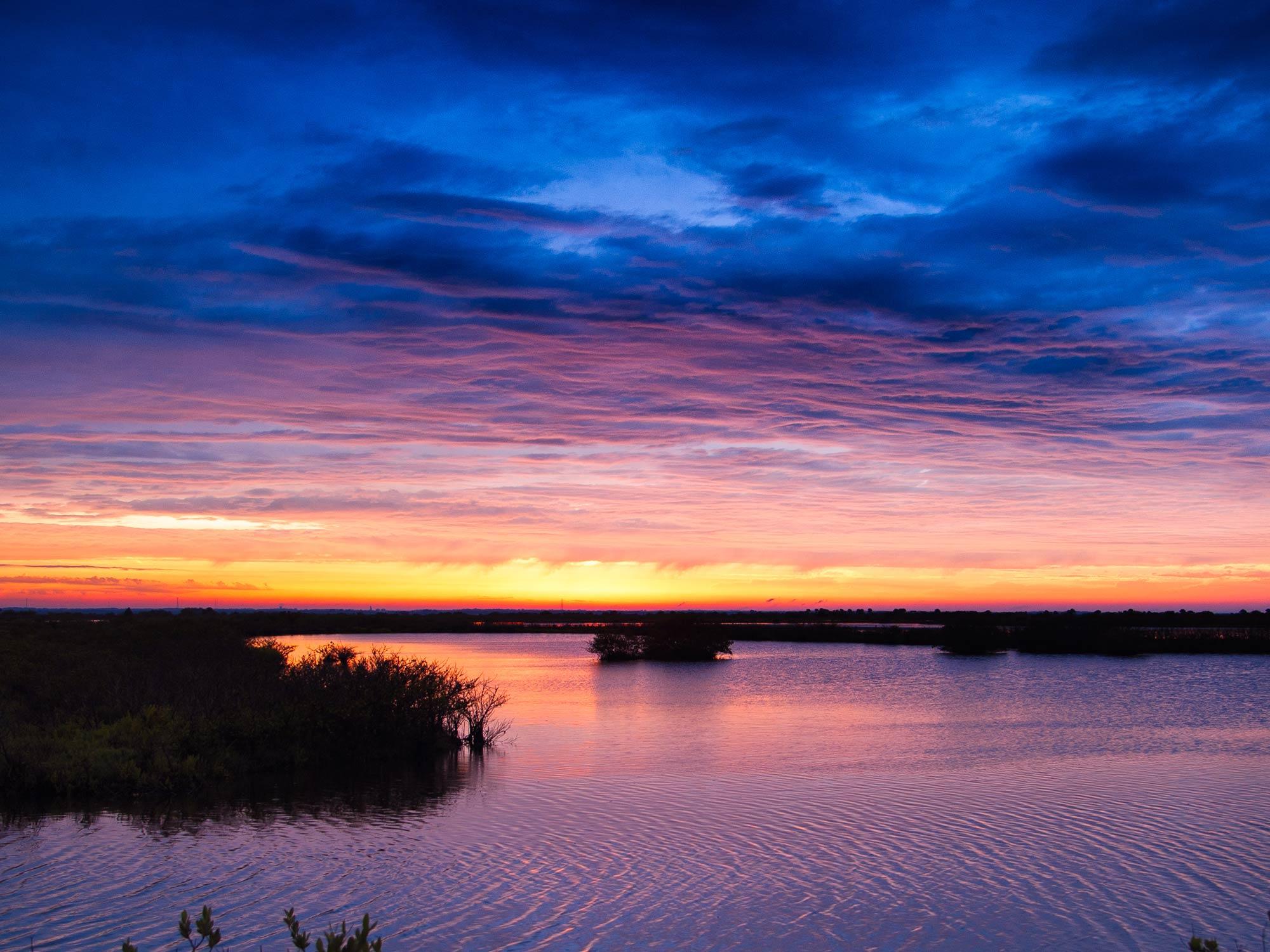 A beautiful Florida sunset over the flats