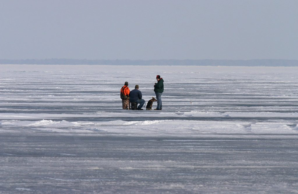 ice fishing in michigan, winter fishing destinations