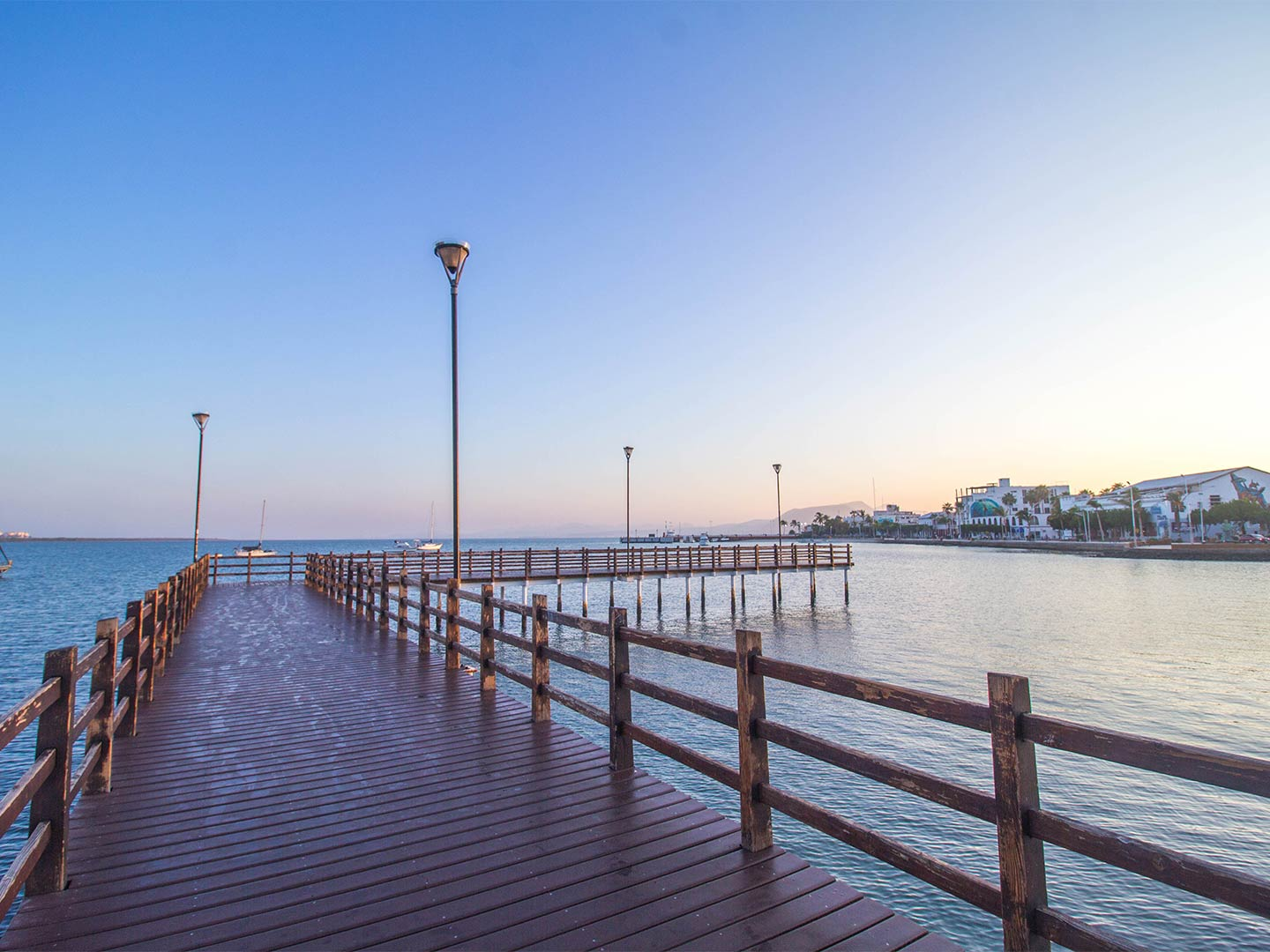 A view from La Paz pier at dusk