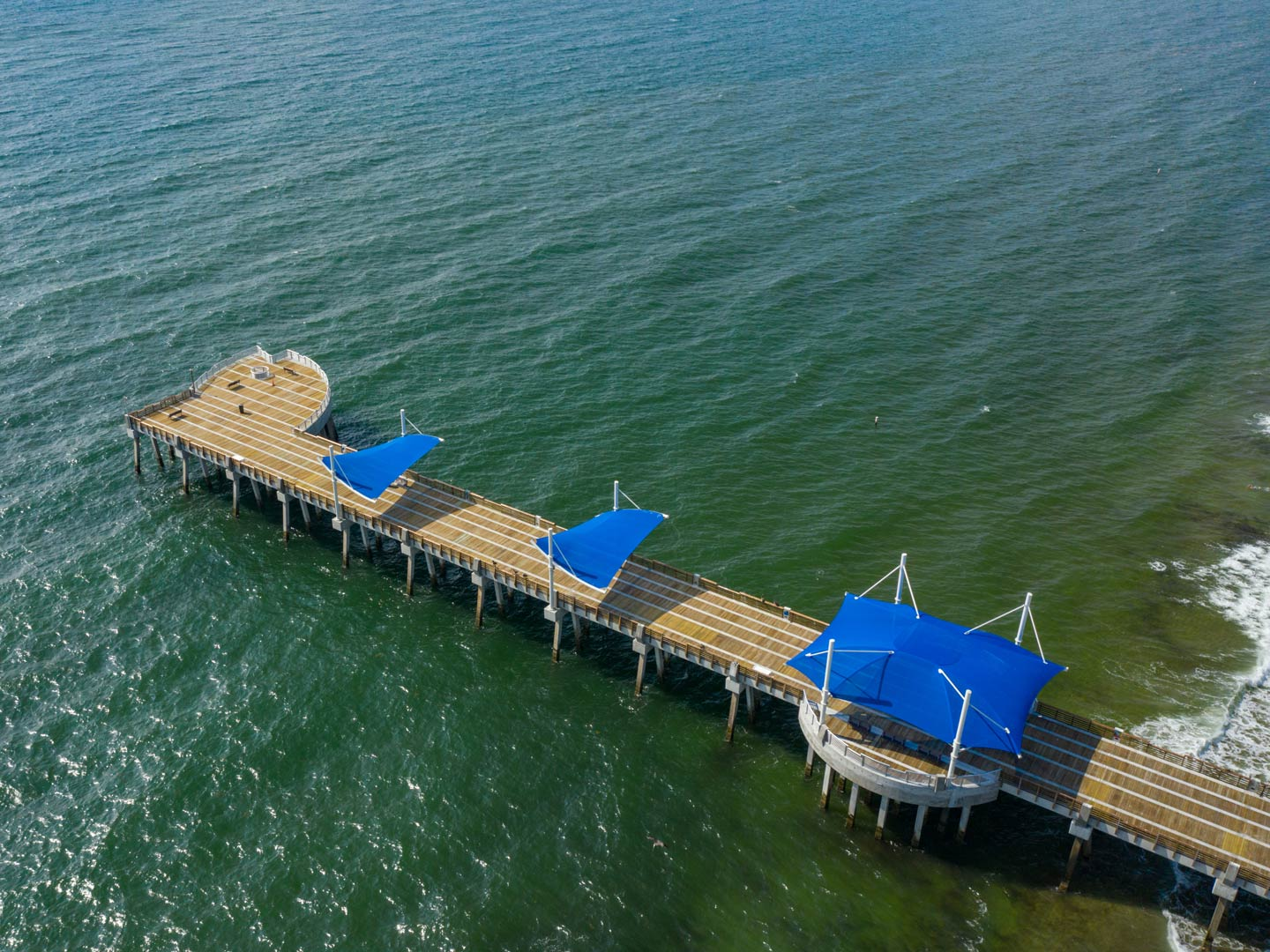 Aerial view of the new Pompano Beach fishing pier