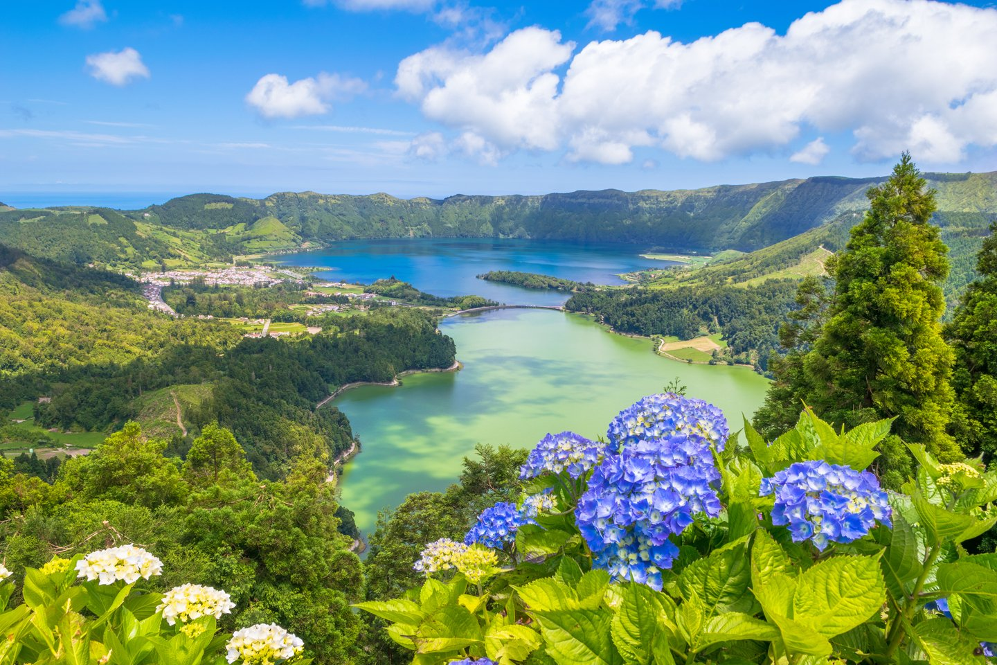 the azores from above