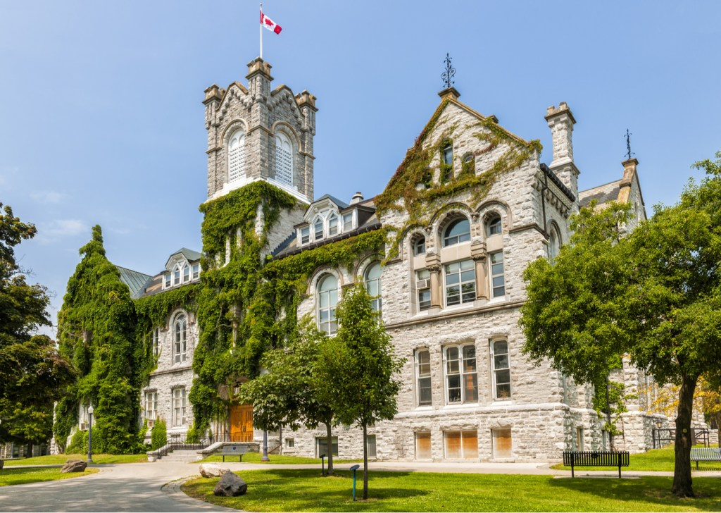 Theological Hall building on campus of Queen's University in Kingston, Ontario