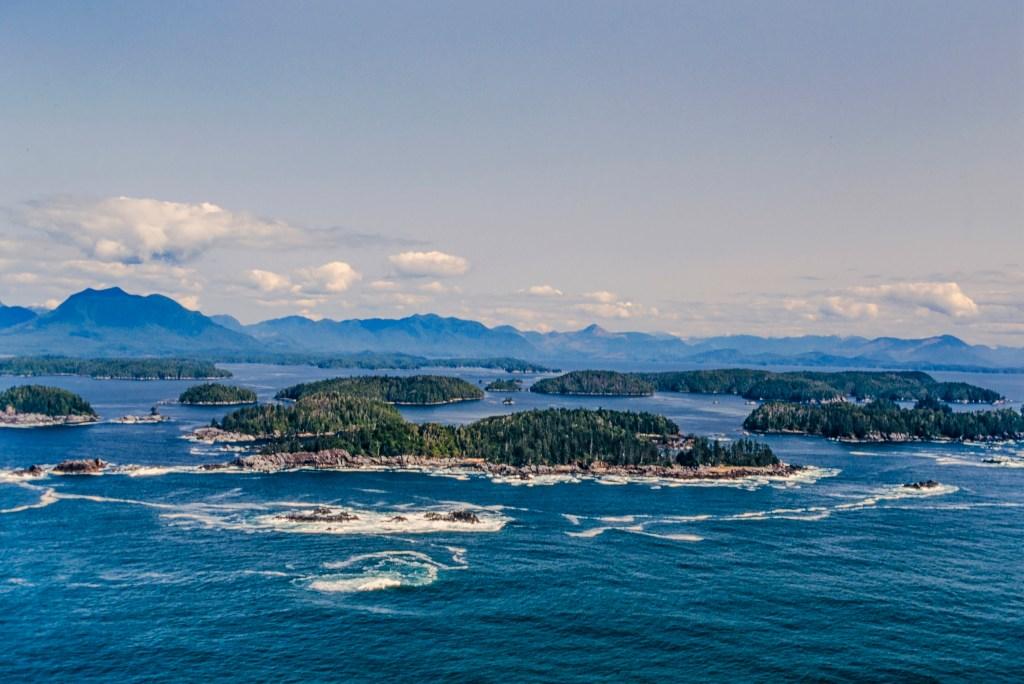 The Broken Islands of Barkley Sound in British Columbia, Canada