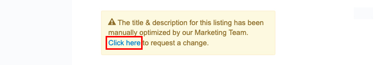 Where and how to request a change to the content.