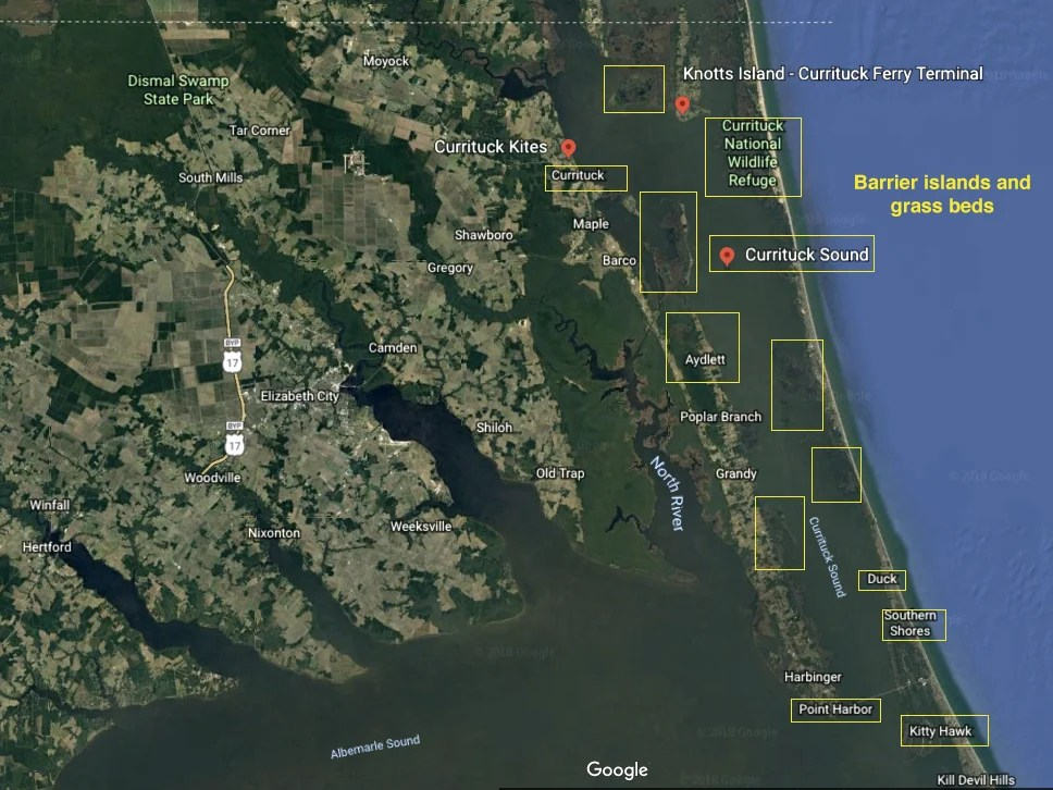 Currituck sound fishing map