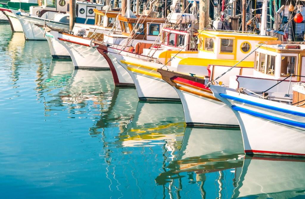 boats at fisherman's wharf