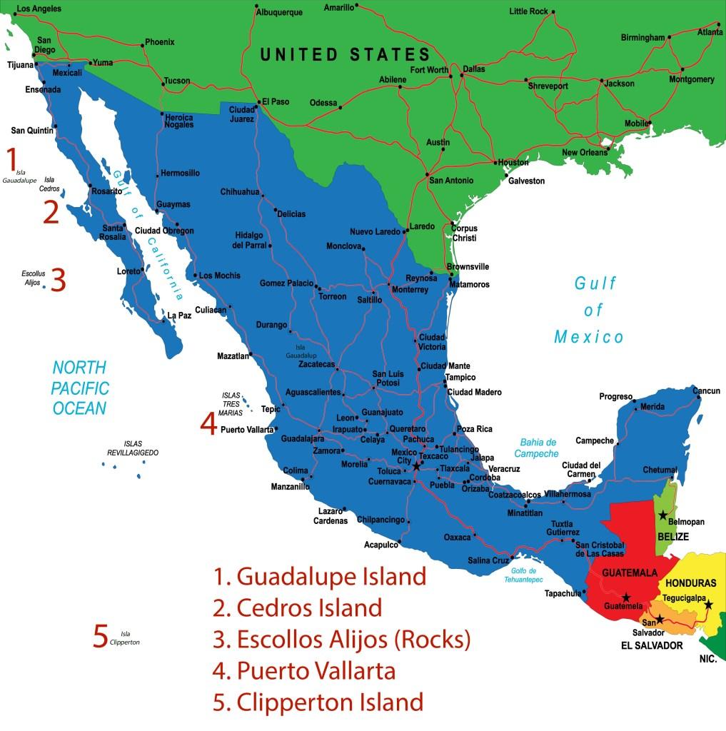 a map of san diego long range fishing spots