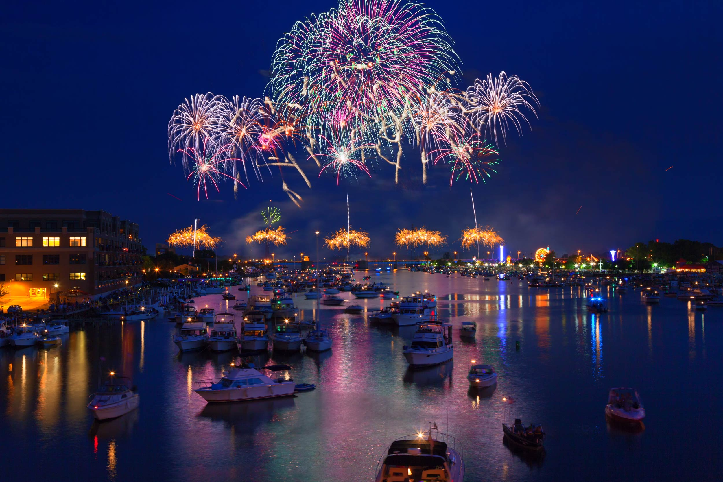 4th of July Fireworks from Boats