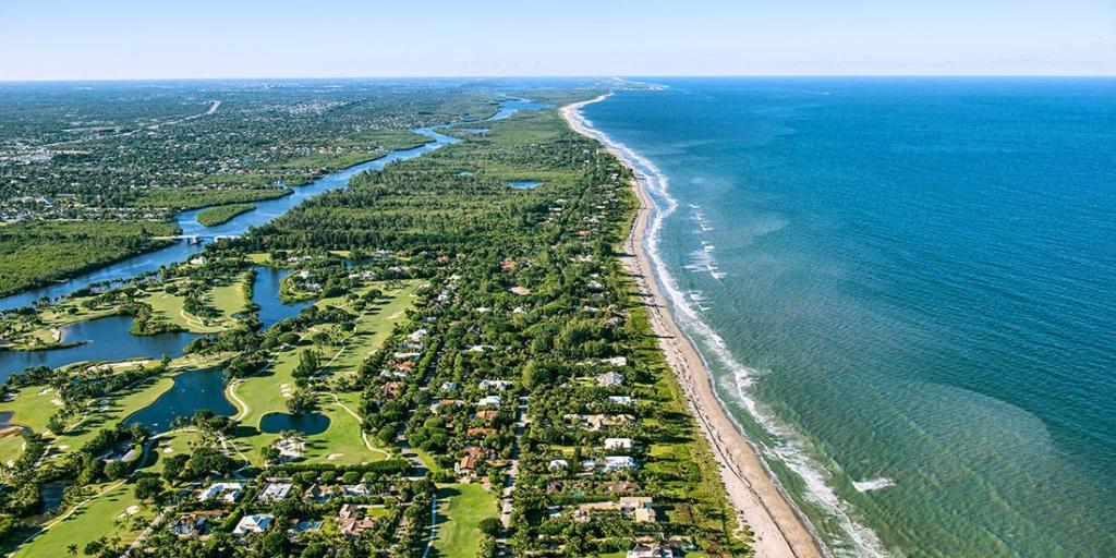 an aerial view of the Treasure Coast in Florida