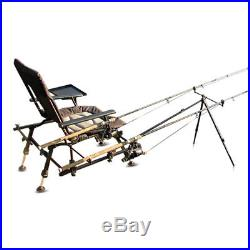 fishing chair with arms cb2 leather cyprinus rod holder rest side tray as in picture