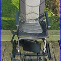 Fishing Chair Ebay Office Mesh Seat Cyprinus With Rod Holder Rest Side Tray As In Picture