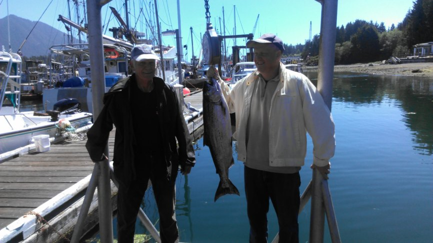 Fishing Tofino 2015 - On The Dock Weighing The Fish