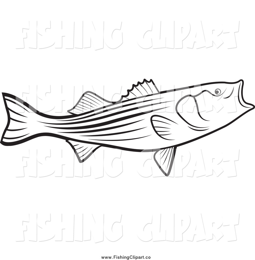 hight resolution of clip art of a black and white bass fish with an open mouth