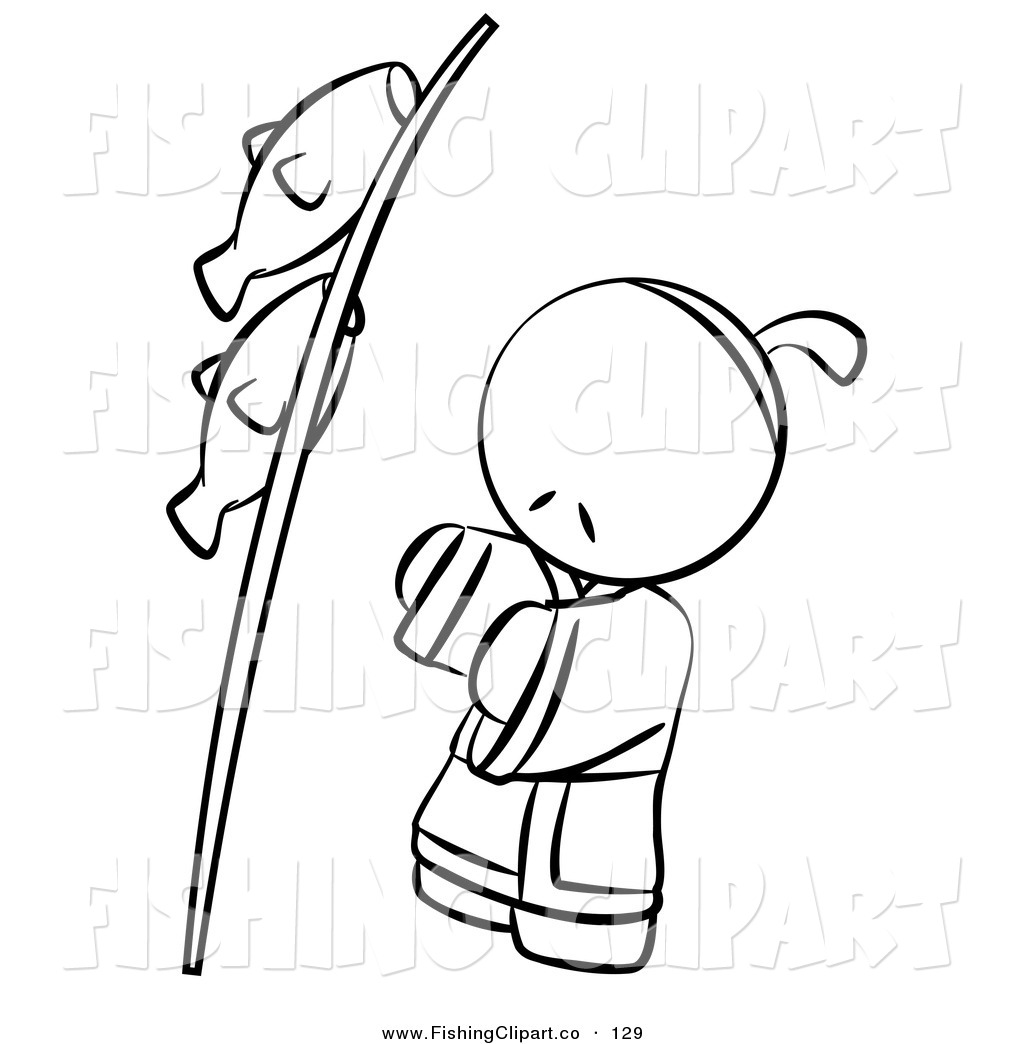 Royalty Free Stock Fishing Designs Of Coloring Book Pages