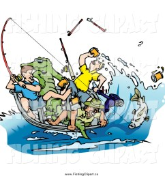 clip art of a drunk men fishing with an alligator in the boat [ 1024 x 1044 Pixel ]