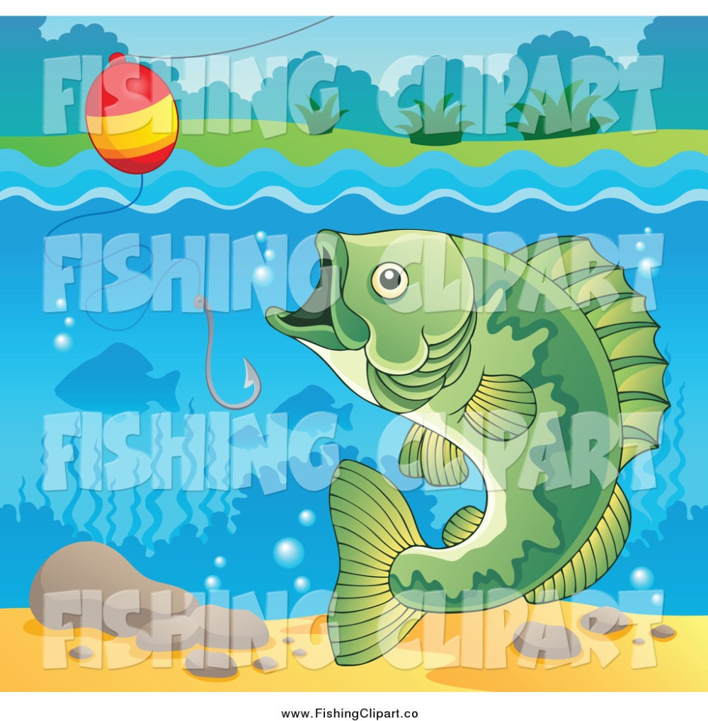 medium resolution of clip art of a river bass fish hook and bobber
